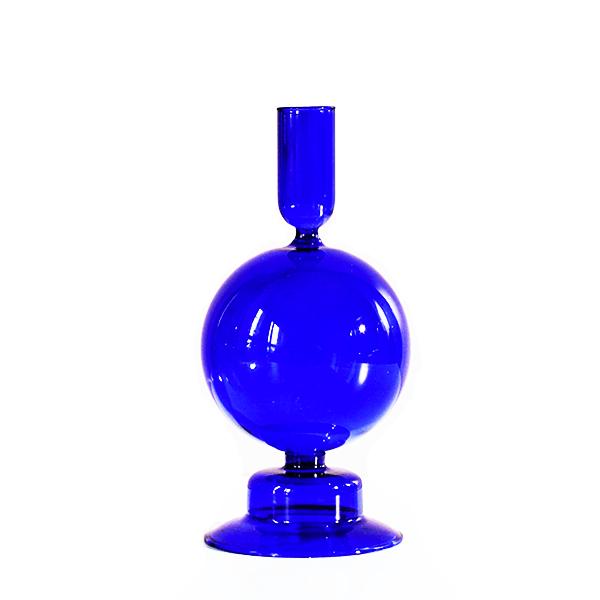Image of Cobalt Bubble Taper Holder