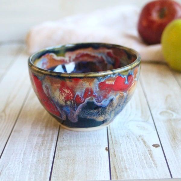 Image of Gorgeous Multicolored Yunomi Tea Cup, 12 oz. Ceramic Stoneware Made in USA