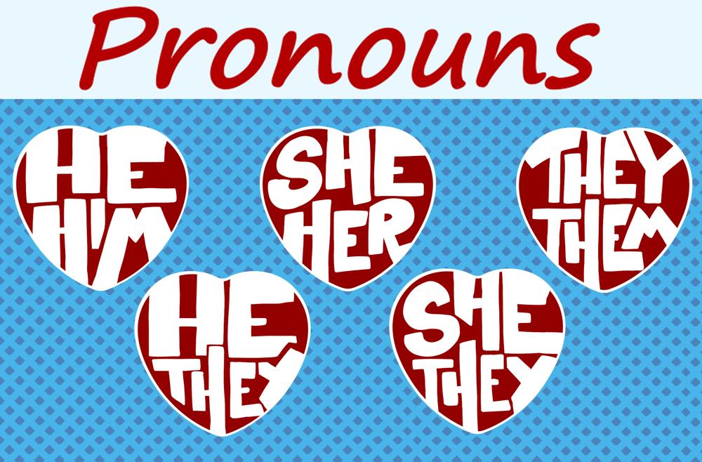 Pronoun Heart Buttons!