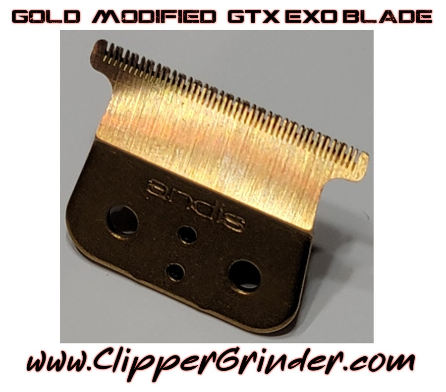 """Image of (3 Week Delivery) Andis GTX EXO Cordless Gold """"Modified"""" Blade"""
