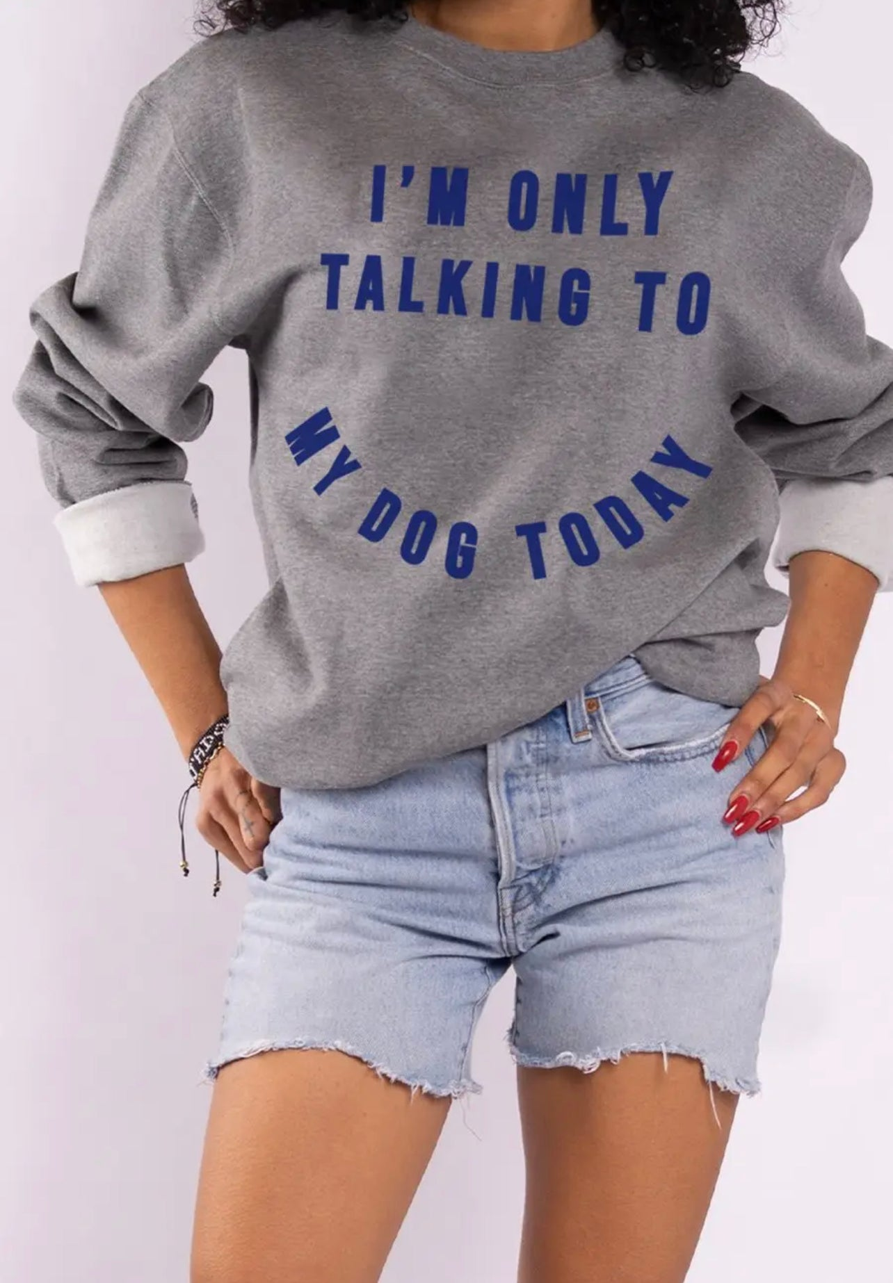 Image of CREWNECK - Only Talking to my Dog