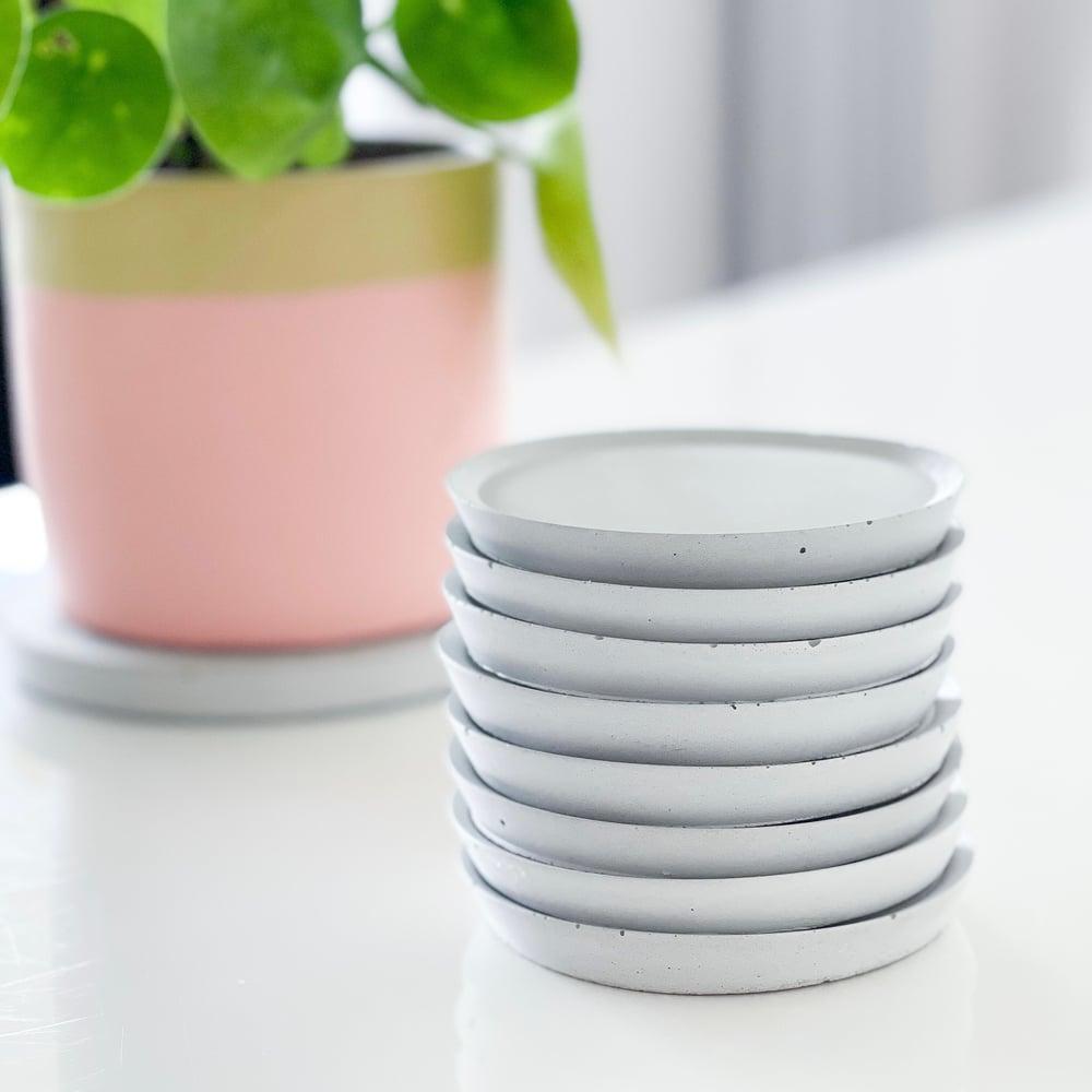 Image of Concrete Coasters   Grey