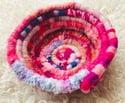 Pretty in Pink Woven Basket