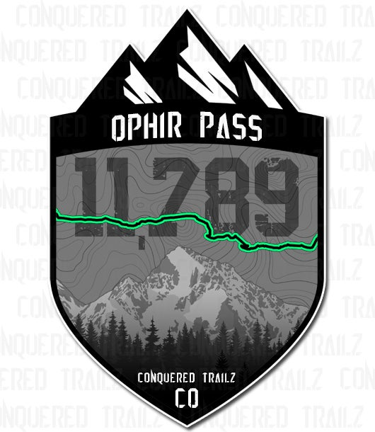 """Image of """"Ophir Pass"""" Trail Badge"""