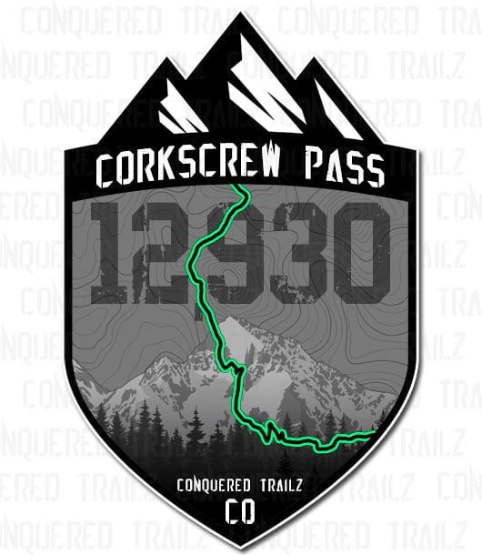 "Image of ""Corkscrew Pass"" Trail Badge"