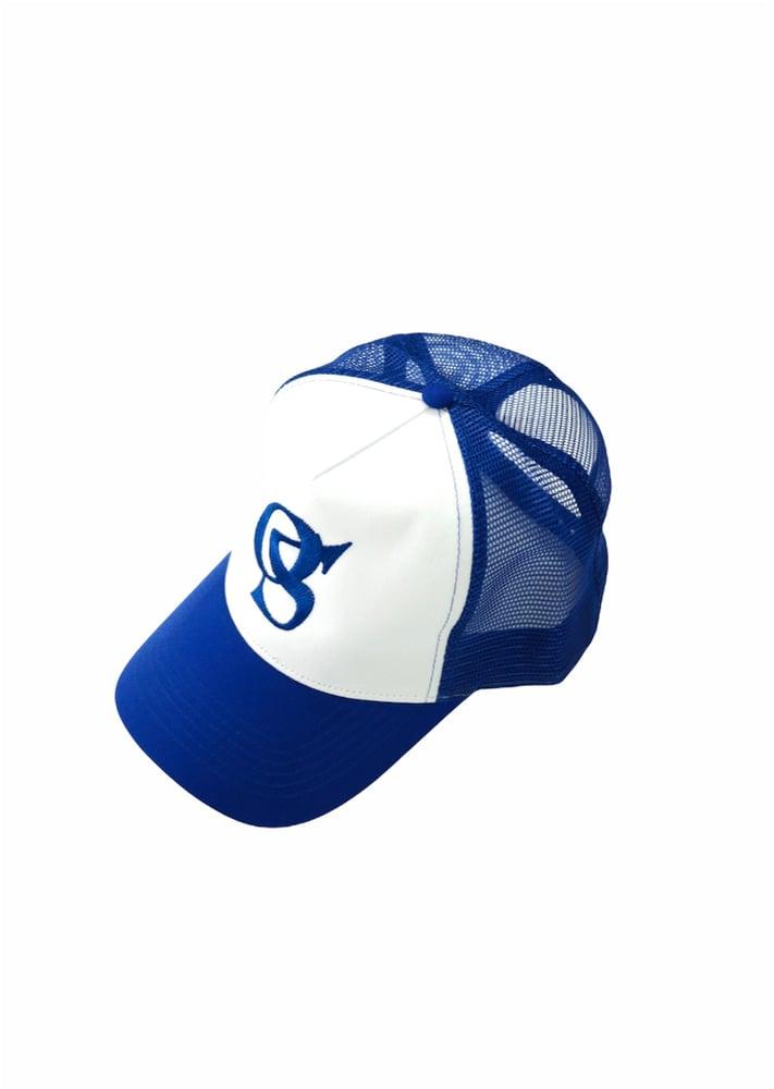 Image of OSDenim Trucker Hat ( Blue / White )