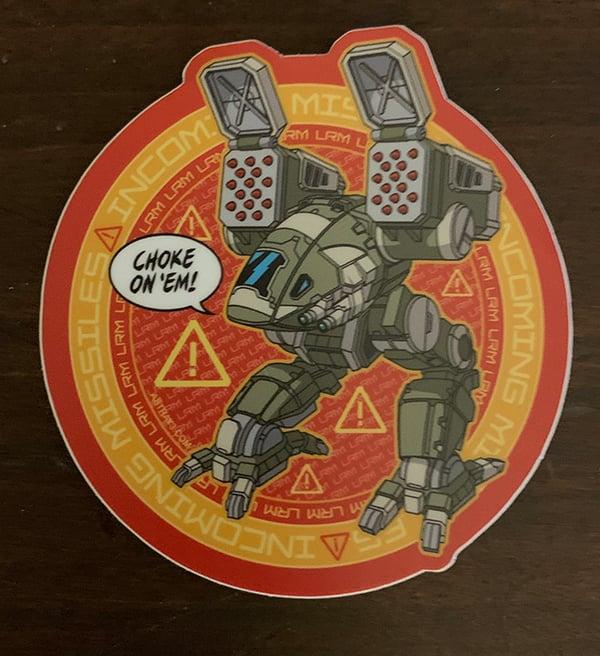 "Image of 3""x 3"" vinyl Catapult sticker!"