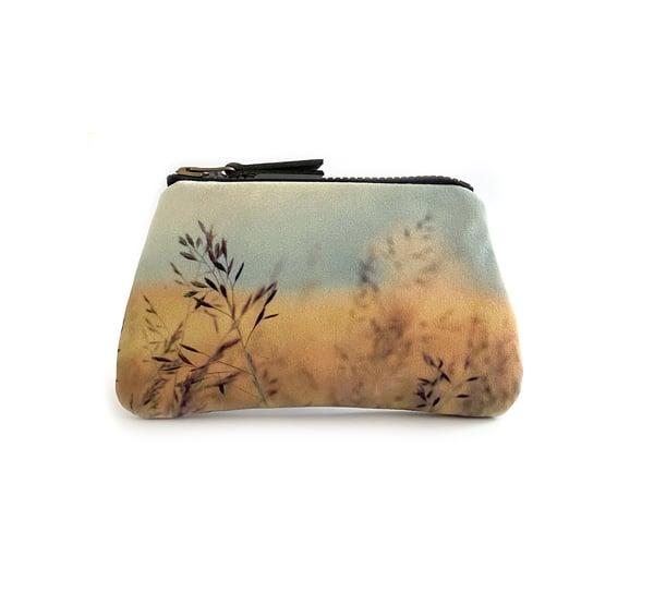 Image of Grasses, velvet zipper purse