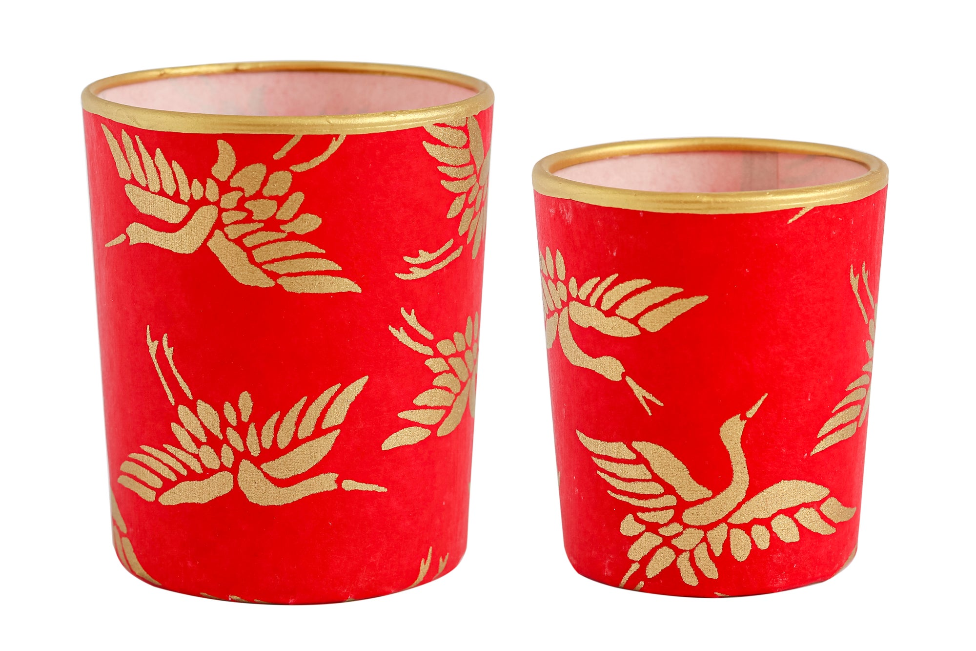 Image of Candle holders * Golden birds * Red