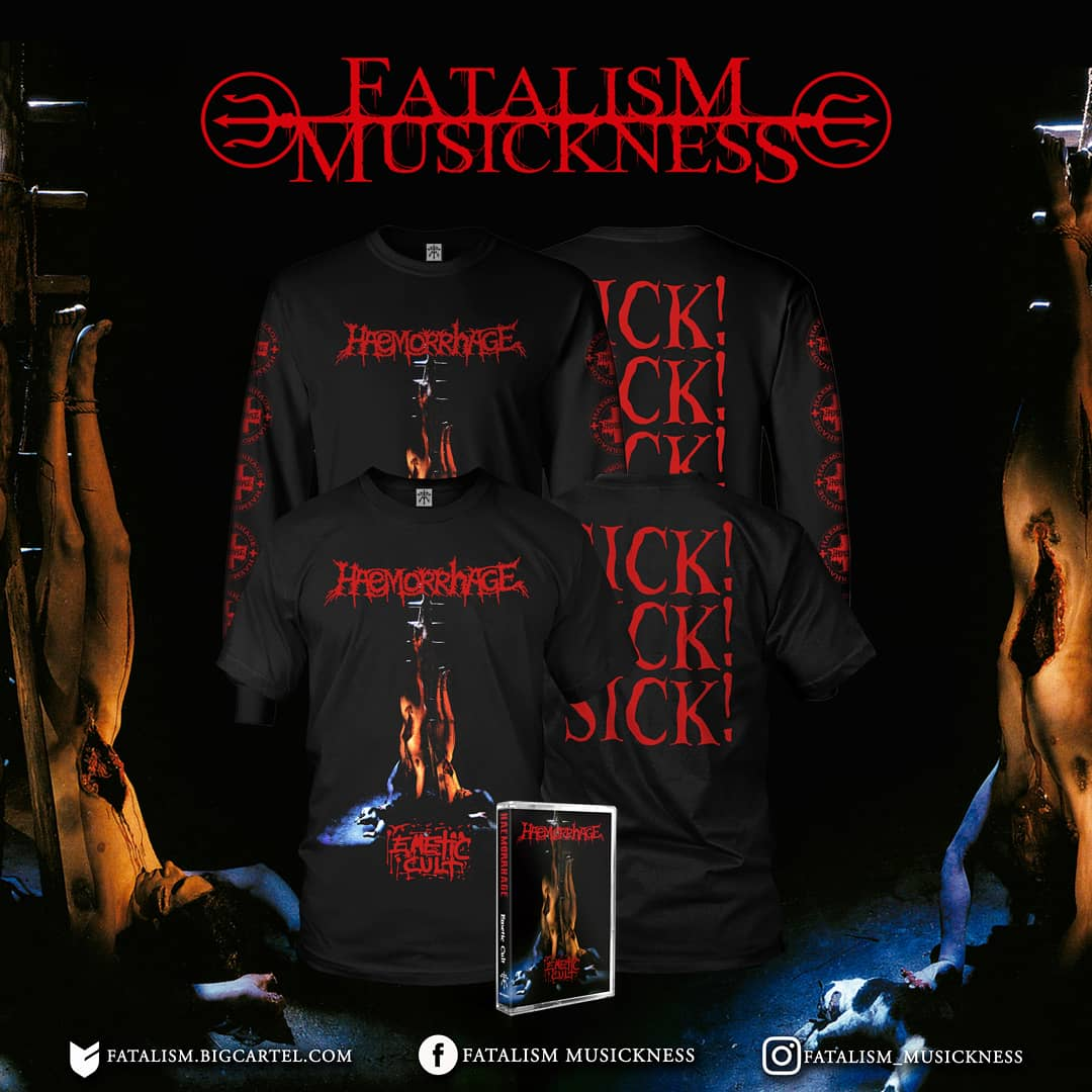 Image of HAEMORRHAGE - Emetic Cult Single Item (SS/LS) & Bundle Package (SS/LS/Tape)