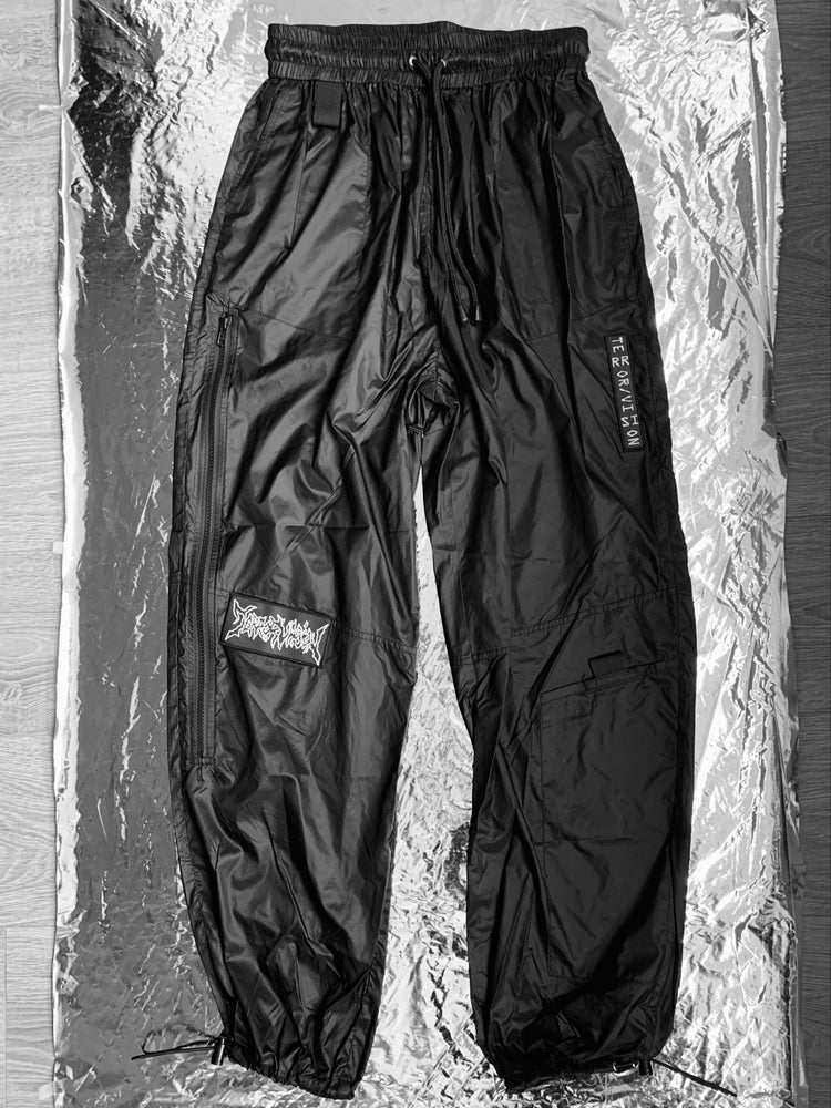 Image of TERROR VISION - nylon zip pants (with 3M reflective embroidery logo patch)