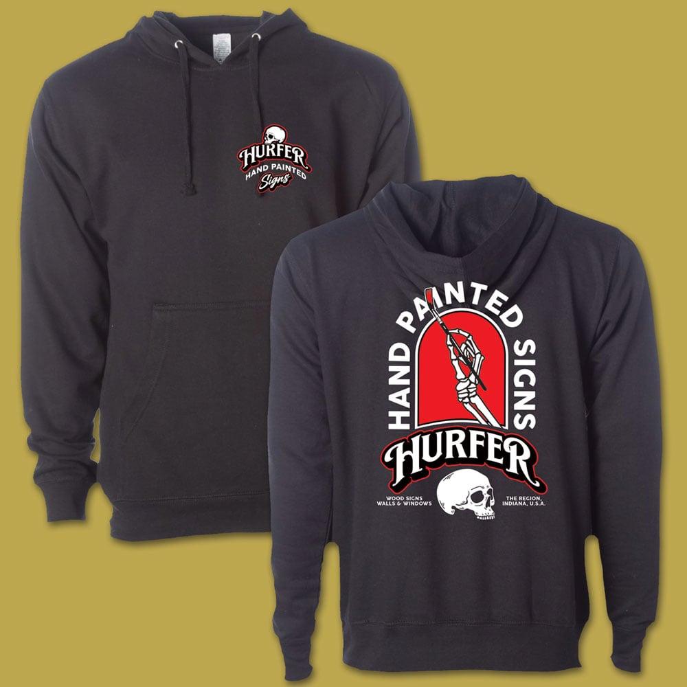 Hurfer Hand Black Hooded Sweatshirt