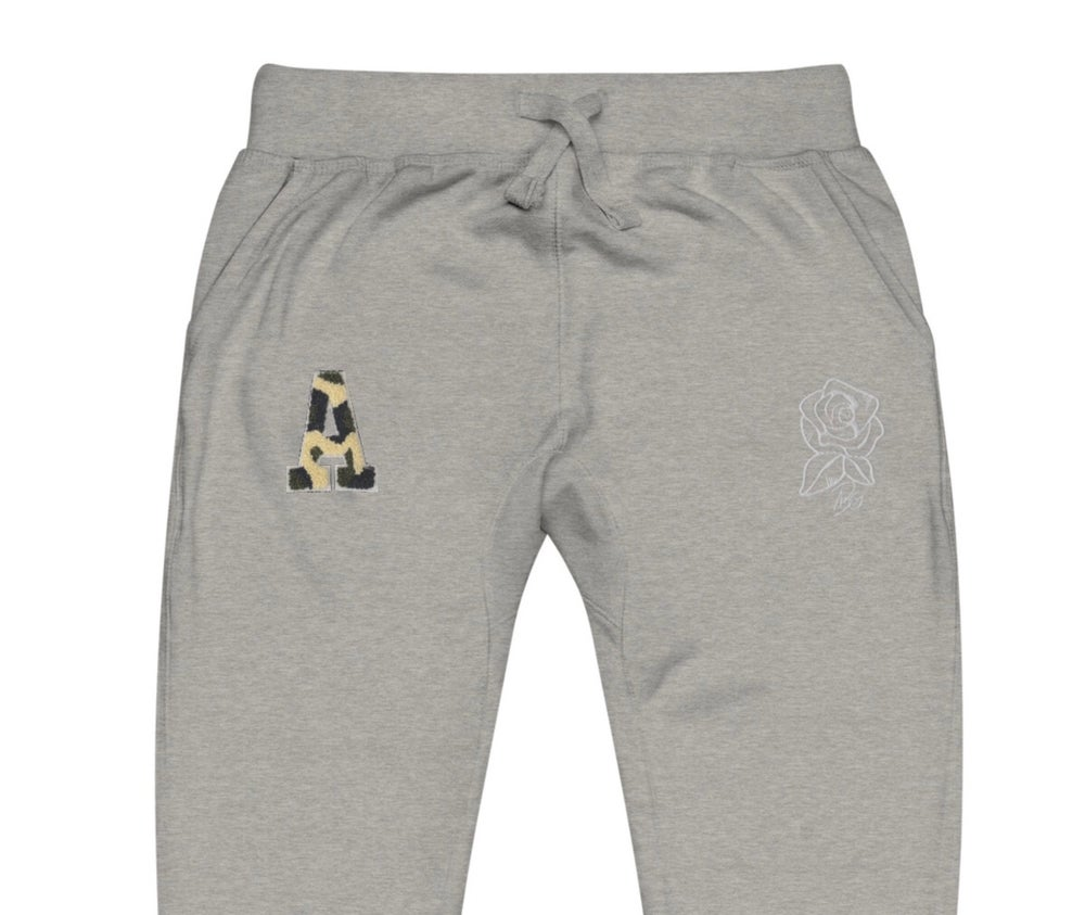 "Image of ""Camo A"" Grey sweatpants"