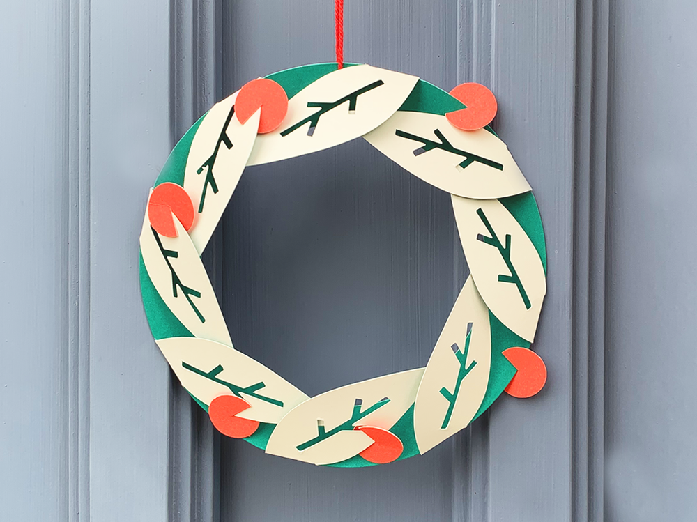 Image of Christmas Wreath - Fold Out and Hang