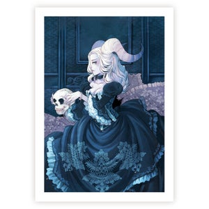 Print (blue demon)