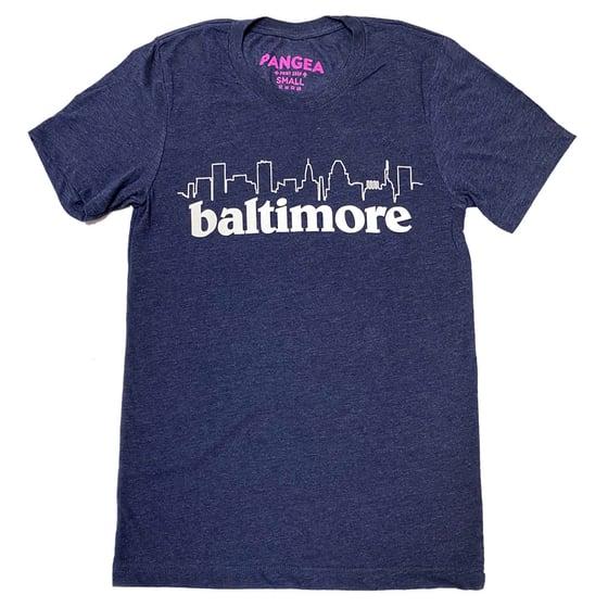 Image of Baltimore Skyline Shirt (Heather Navy)
