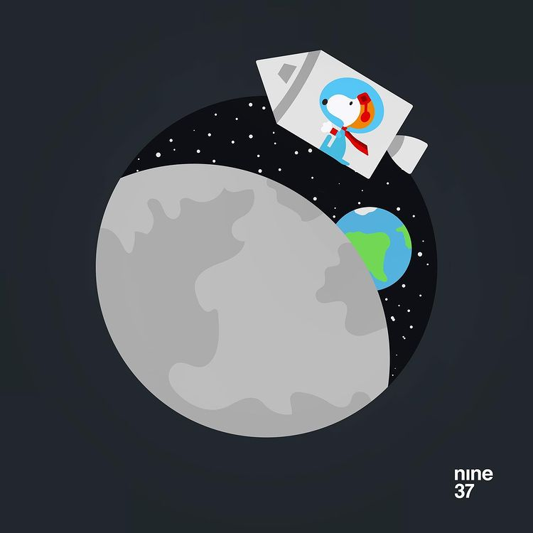 Image of Snoopy in Space