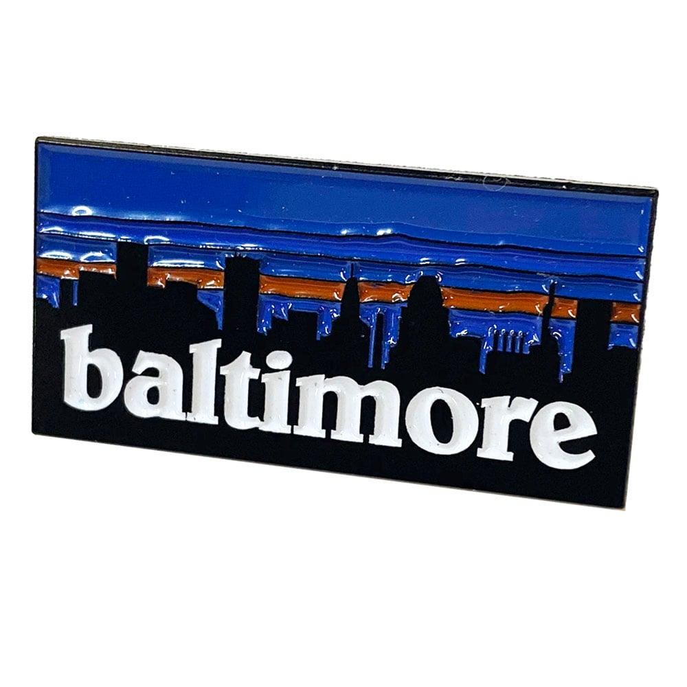 Image of Baltimore Skyline Pin