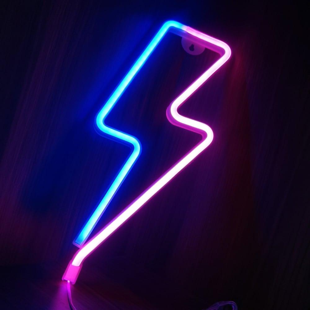 LED Light Lightning Bolt Design - Dual Colour