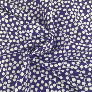 Branch Dots by the Yard - Choose Black/White, Violet/White, or Pink/Orange - Preorder Ships 11/1