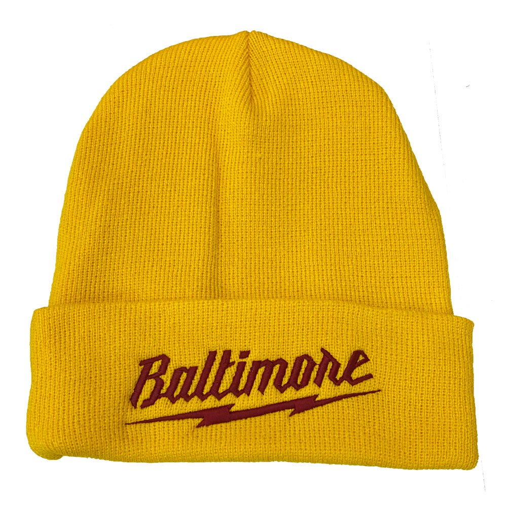 Image of Baltimore Bolt Beanie (Gold/Yellow)