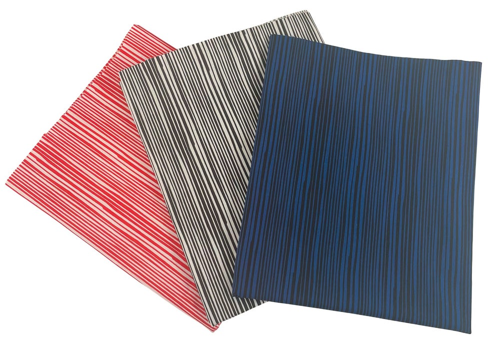 Electric Stripe by the Yard - Choose Red, Black/White or Navy - Preorder Ships 11/1