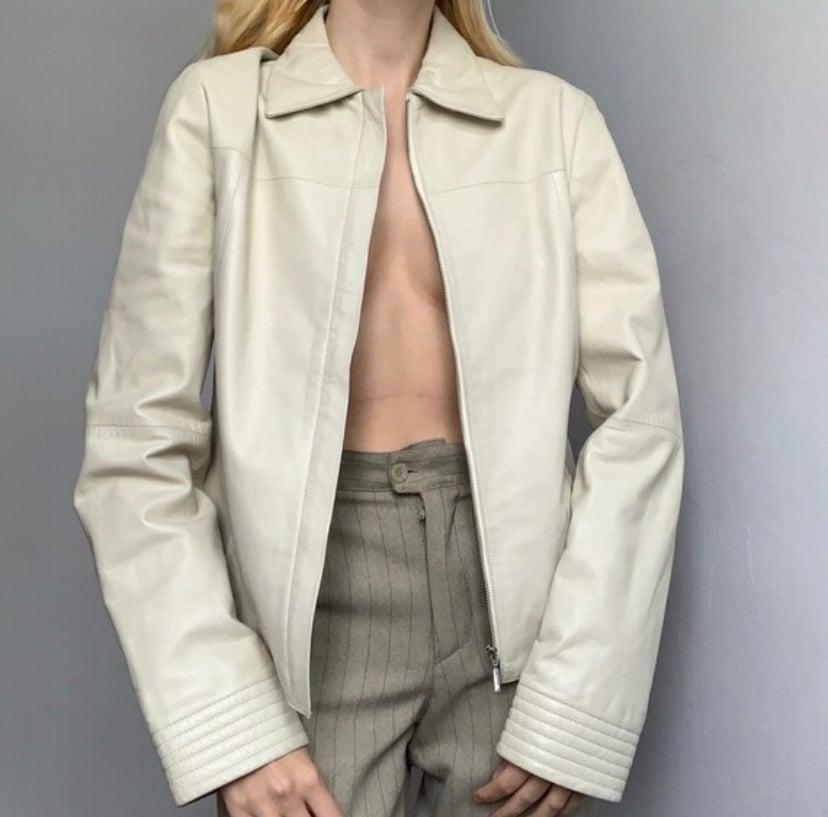 Image of MNG leather jacket