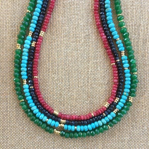 TenThings. INDIA Turquoise. Necklace. N-INDIA