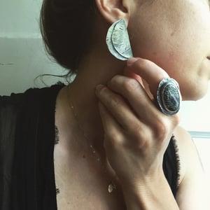 Image of Shield Earrings #1