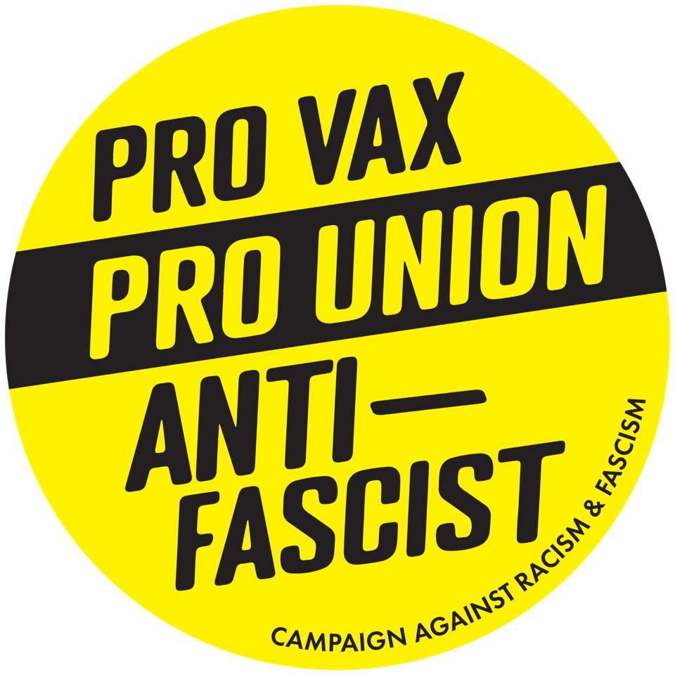 Image of Pro Vax, Pro Union, Anti-Fascist sticker pack (10 stickers)
