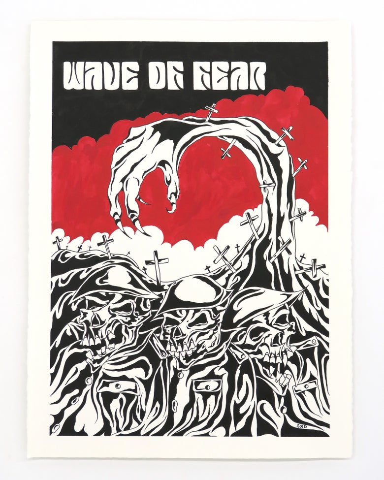 Image of SpiderXdeath 'Wave of fear' - Original artwork 2021