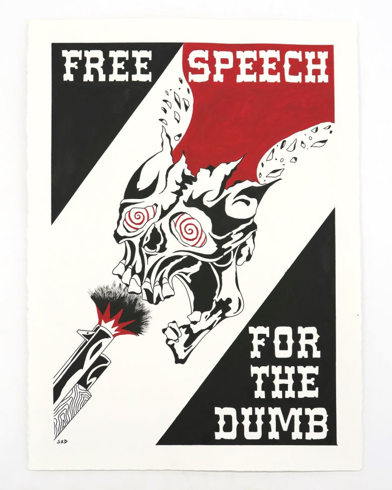 Image of SpiderXdeath 'Free Speech' - Original artwork 2021