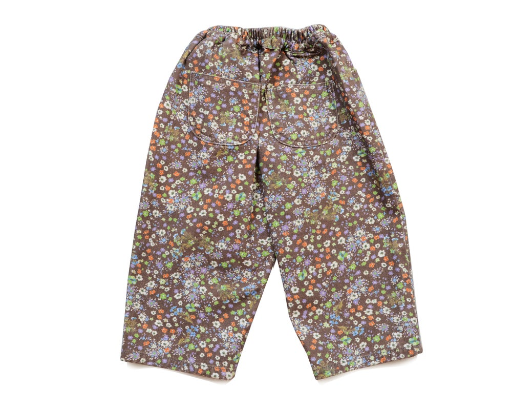 Kids Cropped Flowers Pant