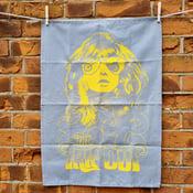 Image of Tea Towel 70's chick grey