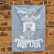 Image of Tea Towel biker grey