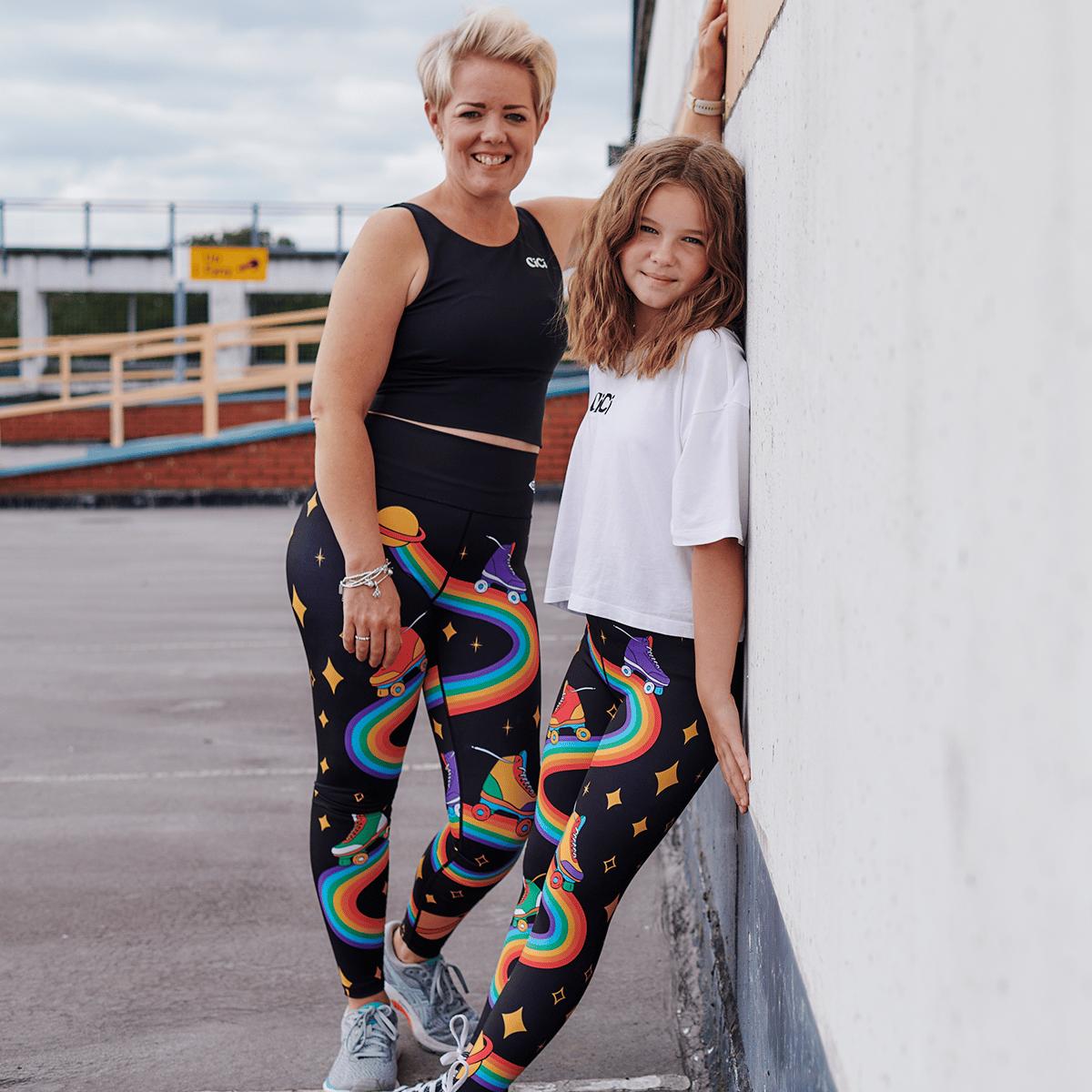 Adults - Rollin on a Rainbow Leggings
