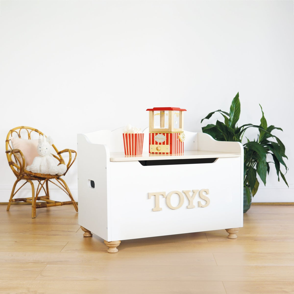 """Image of WOODEN """"TOYS"""" TOY BOX"""