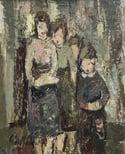 20th century Swedish School 'Family Portrait'