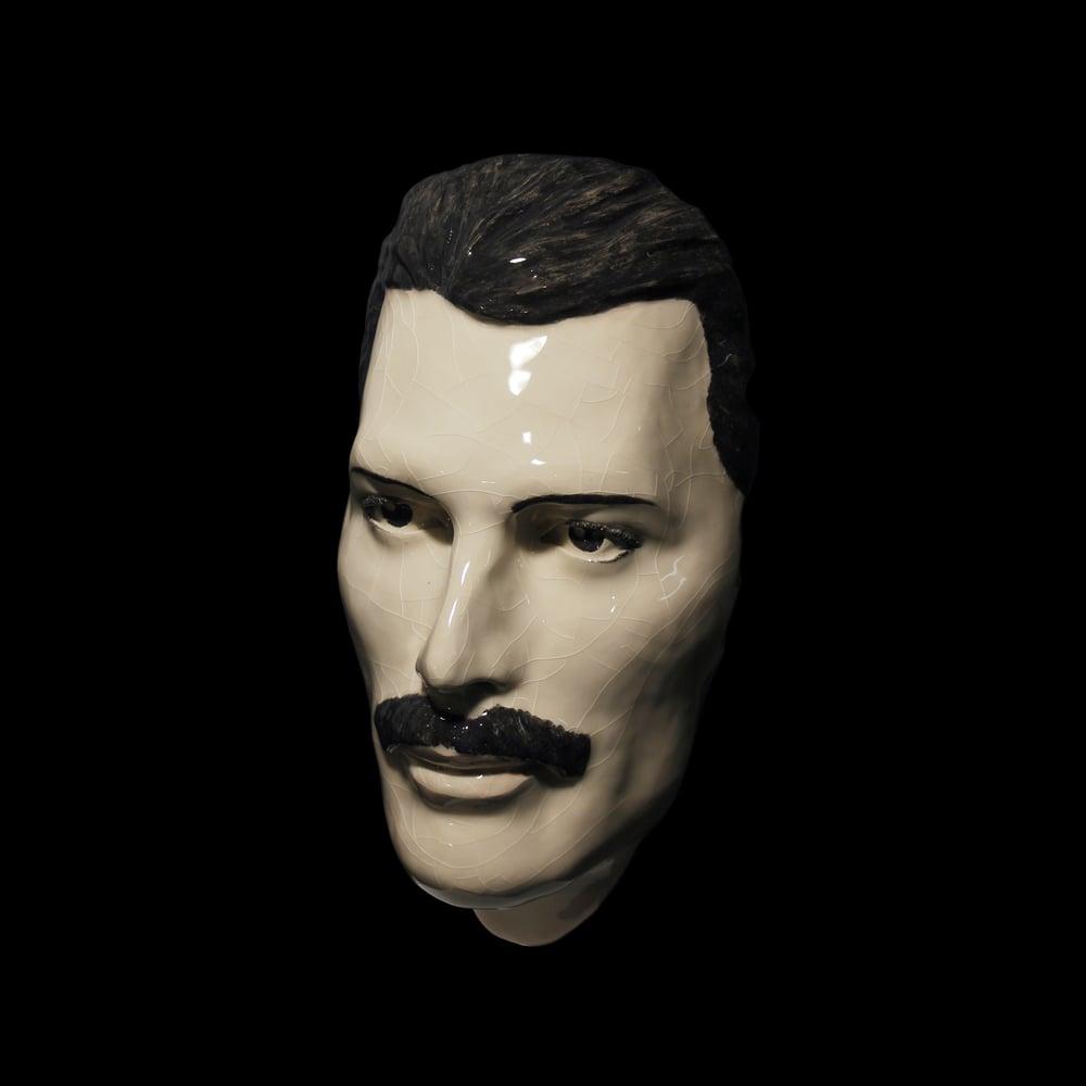 Freddie Mercury Painted Ceramic Face Mask