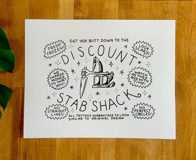 "Image of Art Print - Stab Shack Ad - 11x14"""