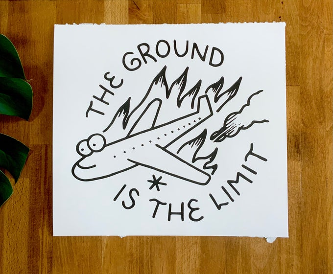 """Image of Art Print - """"Ground is the Limit"""" 12""""x13"""""""