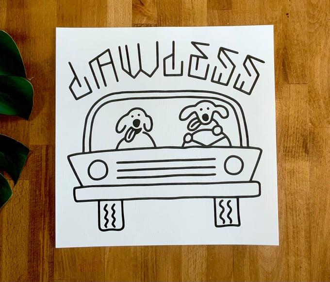 "Image of Art Print - ""Lawless"" 12""x12"""