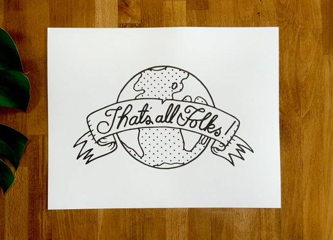 """Image of Art Print - """"That's all Folks"""""""