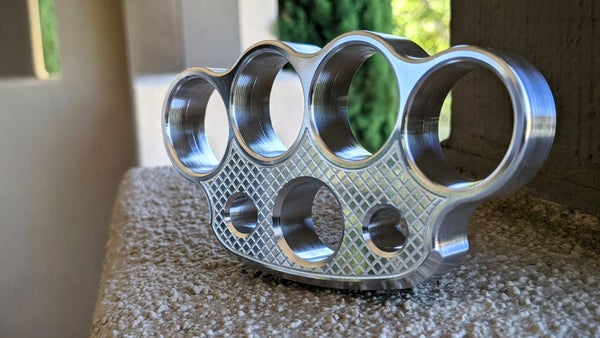 Image of Checkered 6061-t6 Full Size Paperweight