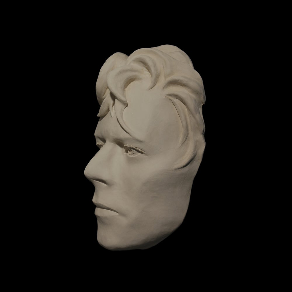 'Ashes To Ashes' White Clay Face Sculpture