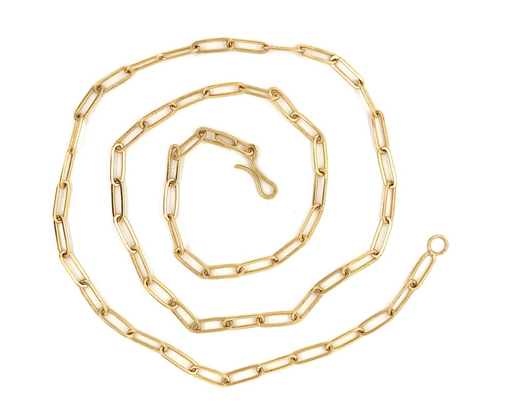 Image of Handmade Paperclip 18k Chain