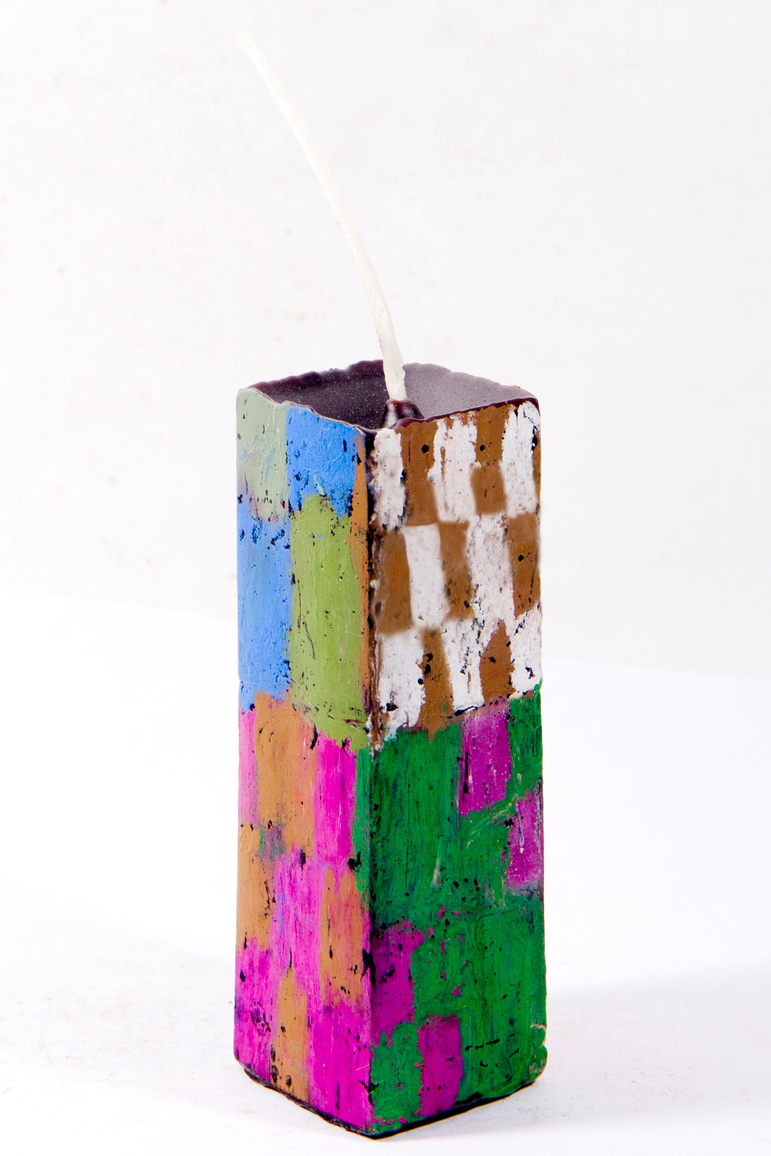 Image of Mid Stack Tower in green, midnight blue, red, magenta, blue, olive, brown and grey