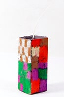 Image 2 of Mid Stack Tower in green, midnight blue, red, magenta, blue, olive, brown and grey