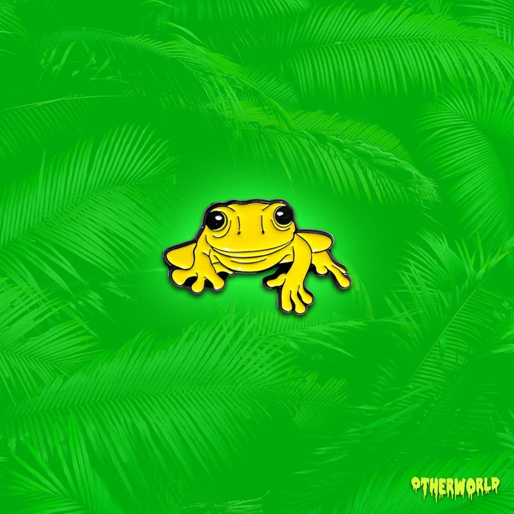 Image of Yellow Frog pin