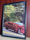Volkswagen scirocco powerful argument framed ad 8 1/4 x 11 3/4